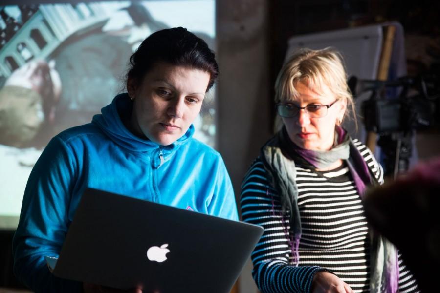 Viktoria Rusina ja Õnne / Foto: Sirje Kallasvee